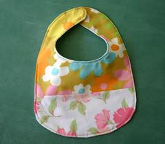 bib (sparklecandace) Tags: baby floral vintage bed handmade linen bib sheets