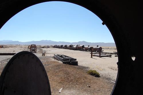 Train graveyard from inside an err, train