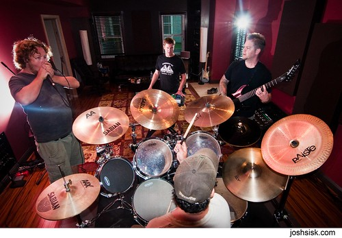 pig destroyer in the studio.