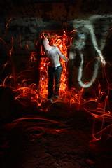 ex 054 (Dennis Calvert) Tags: longexposure lightpainting abandoned fire decay flames fear sooc denniscalvert photonmancer
