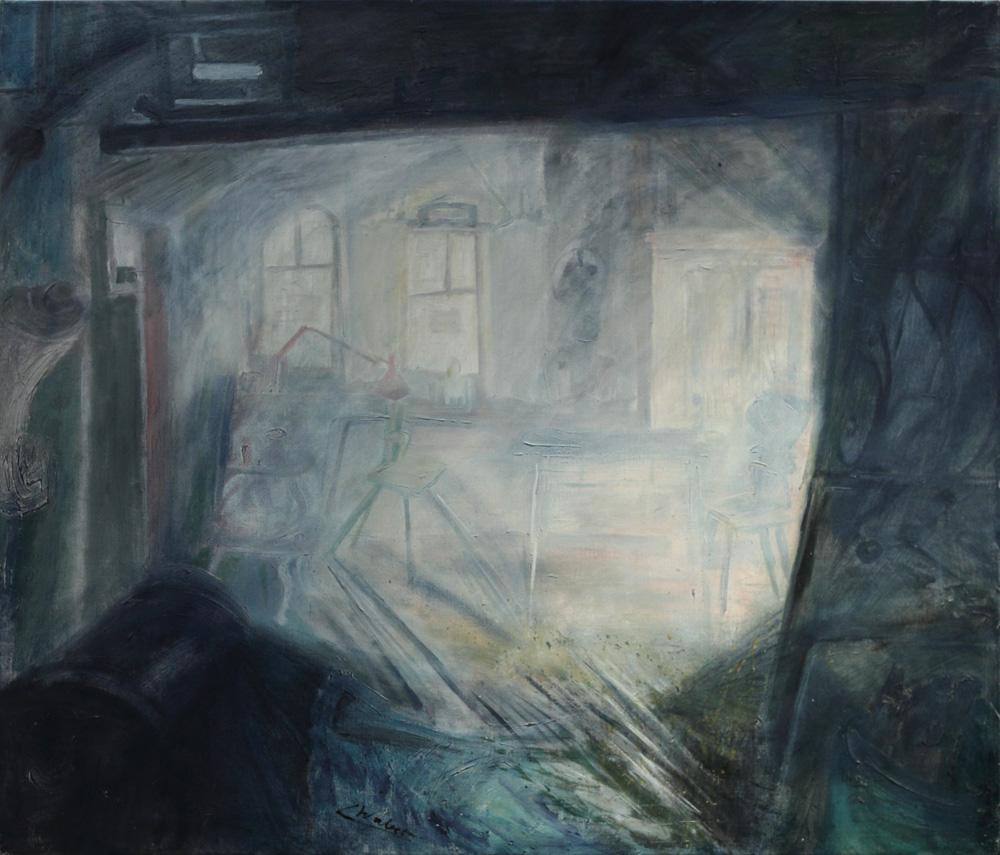 Linde Waber, Atelier Linde Waber in Zwettl [Linde Waber's Studio in Zwettl], 1990
