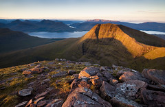 Beinn Alligin (Kenny Muir) Tags: camping light wild mountain sunrise landscape scotland highlands torridon cuillin beinnalligin