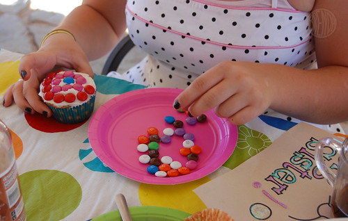 dotty cupcake decorating