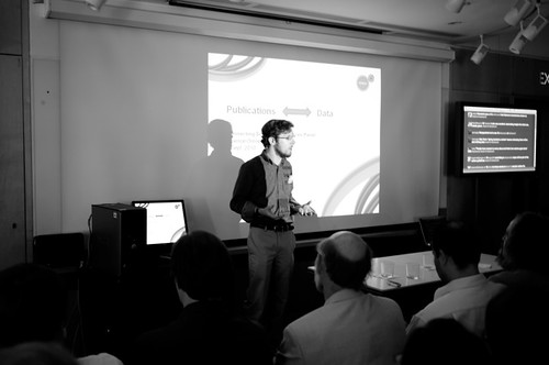 Michael Habib presenting