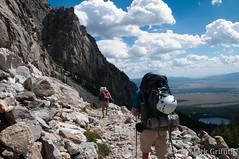 Rock, Clouds and Down (Mark Griffith) Tags: outdoors climb nationalpark hiking hike climbing wyoming grandteton jacksonhole outing grandtetonnationalpark sethneilson deanmatthews dsc8528 overnigher