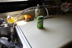Mirinda Splash (AKstudios) Tags: test green apple water speed canon eos rebel droplets drops high experiment ak shutter dslr deviantart mirinda kfupm 550d t2i akstudios akstudios