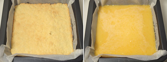 Tangy lemon squares - Method 2