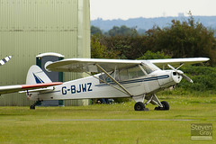 G-BJWZ - 18-1361 - Private - Piper L-18C (135) Super Cub (PA-18-95) - Duxford - 100905 - Steven Gray - IMG_5843