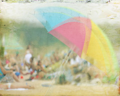 Beach Umbrella (VinTije) Tags: blur blurry fineartphotography vintij vintije