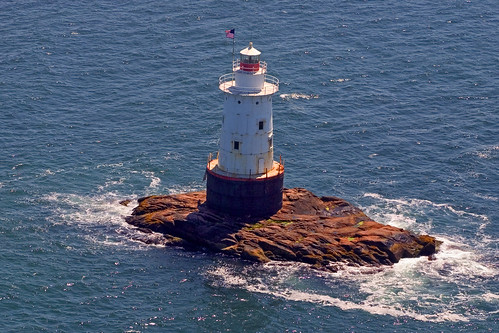 Aerial view of Sakonnet Lighthouse
