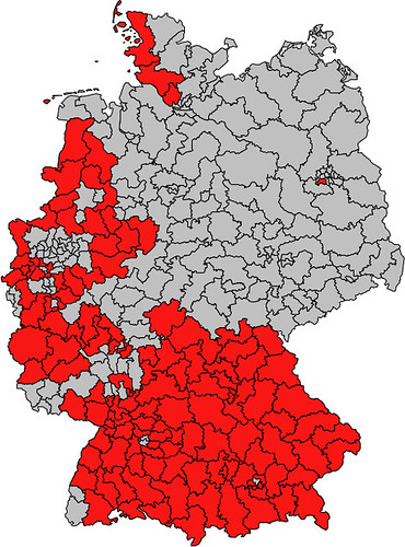 Germany 2010: Conservative and Socialist Party Districts