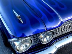 Cool Flames (54 Ford Customline) Tags: ford flames classics v8 hotrods 1964 customs paintjob kustom kulture letsgocruising september2010 1964fordgalaxie500 chromebumperclassics peninsulacruisenight