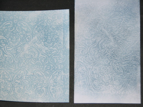 Wax Paper Technique #2 - Faux Embossing Resist 001