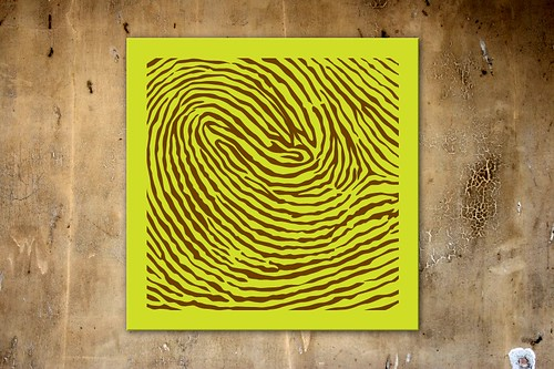 fingerprint, color, bright, yellow, Etsy, print, canvas, brown, home ideas