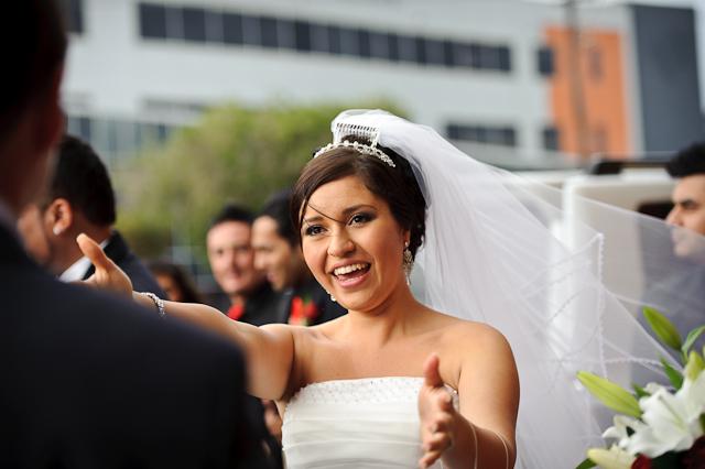 Laura and Elvis's Wedding-Congratulating the bride