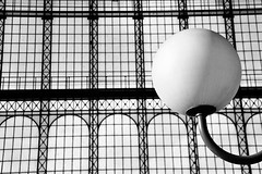 Gare du Nord (quadriman brother) Tags: windows blackandwhite bw white black paris france lamp station architecture train ball nikon europe gare monotone structure sphere 2010 d90 seenonflickr nikond90bw