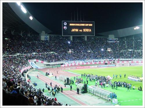 長居スタジアムの風景@日本代表 VS セルビア代表_201004