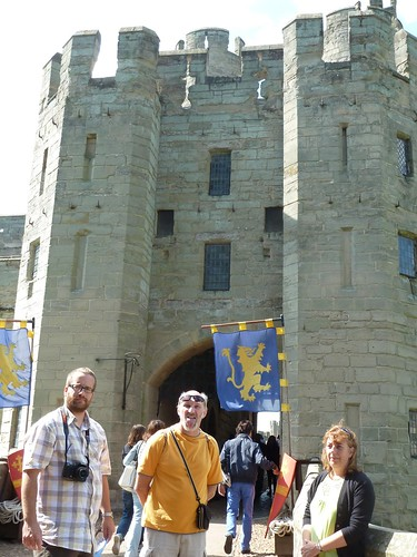 Marc, Chris & Toni entering Warwick Castle