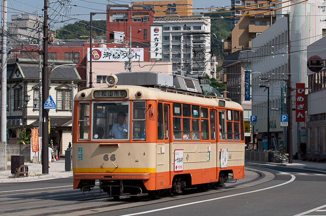 伊予鉄道市内電車モハ50形66号