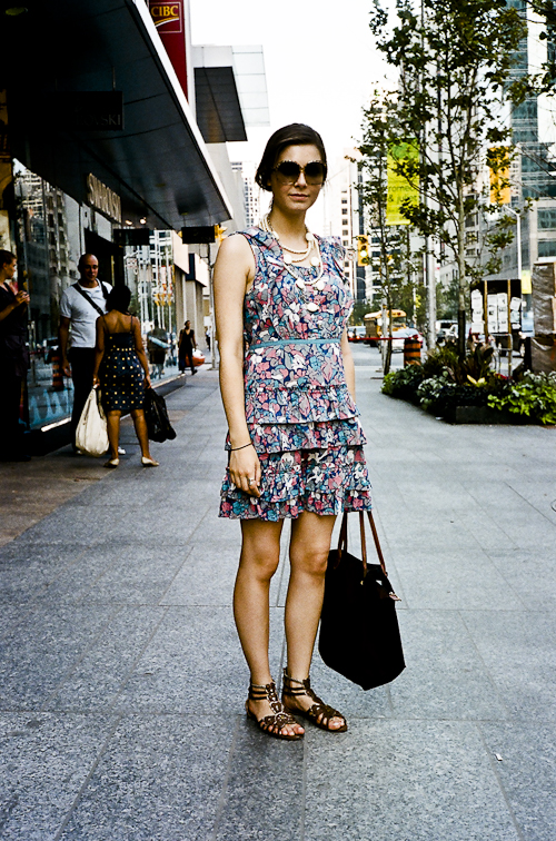 Flower Print, Street Fashion @ Bloor St. W., Toronto