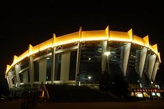 Shanghai - Shanghai Stadium (cnmark) Tags: china light building sports architecture night geotagged noche shanghai nacht stadium noite   stadion  nuit gebude notte xujiahui nachtaufnahme  allrightsreserved  80000people  mygearandmepremium mygearandmebronze mygearandmesilver mygearandmegold mygearandmeplatinum geo:lon=121435313 geo:lat=31184182