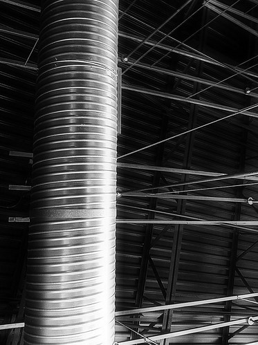 roof chimney bw white black building art barn silver vent lights photo support iron industrial image farm steel air stock tube pipe creative free commons ceiling silo license inside beams chipotle corrugated shaft ventilation conditioner