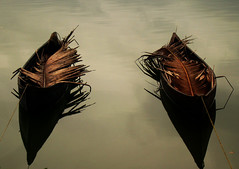 Twin Twins ♥ (Lυвαιв) Tags: reflection water river boat twins same held duplicate identical