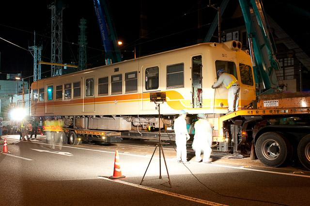 伊予鉄道800系 モハ816 廃車搬出