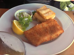 Fish and chips at Skippers, Leith, Edinburg