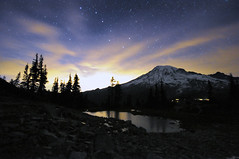 A Night at Mt. Rainier - Part 6 - 9:25pm (David M Hogan) Tags: mountain night stars washington nikon tarn mtrainier ursamajor bigdipper mtrainiernationalpark d5000