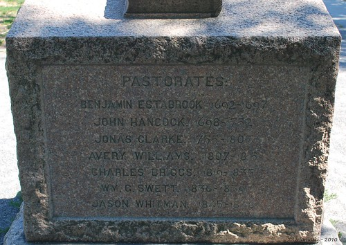 Pastorates of the first Lexington Meetinghouses