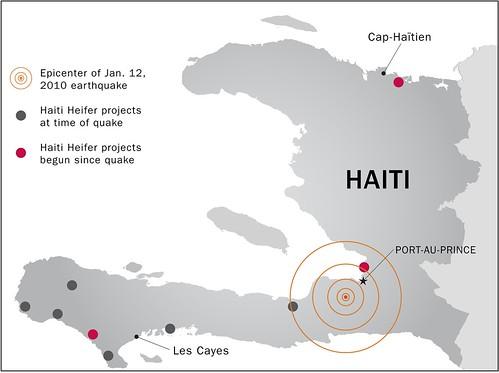 Heifer Haiti map