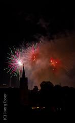 Feuerwerk in Mühlhausen