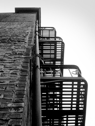 Fire Escapes on a Building