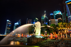 The Merlion - A Tribute to a Slaughtered Sheep (Sprengben [why not get a friend]) Tags: world china city wedding summer sky music newyork paris art japan skyline clouds skyscraper observation hongkong tokyo bay harbor amazing rainbow nikon singapore asia ship shanghai sundown artistic gorgeous awesome watch hamburg elevator style casino divine international shoppingmall stunning metropolis charming foreign fabulous hdr englandlondon singaporeriver marinabay engaging travelphotography d90 photomatix themerlion thefullertonhotel singaporeflyer travellight d3s sprengben wwwflickrcomphotossprengben sprengbenurban sprengben2010singaporerobocupgoetheschuleasienasiatravel boatsands formulabay