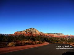 Driving road by sosunrise - @Sedona,AZ. Dec 2009