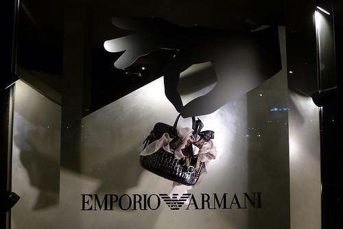 Vitrines Armani - Paris, septembre 2010