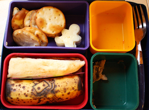 1st Grade Bento #350: What Came Home