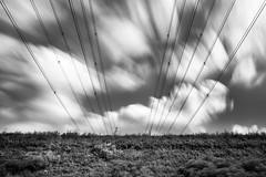 energies II (nicola tramarin) Tags: longexposure sky bw italia delta natura wires cielo po biancoenero fili energia elettricit veneto rovigo monocromatico lungaesposizione deltadelpo polesine nicolatramarin
