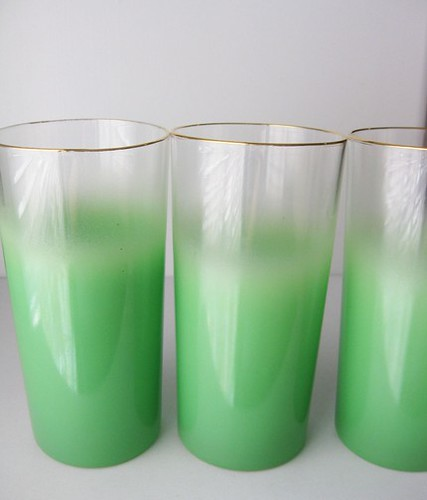 FF_green frosted glasses_swanky lady vintage_etsy_pretty little things blog