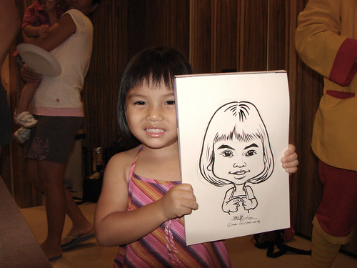 Caricature live sketching for birthday party 11092010 - 6