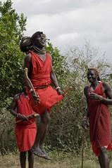 Masai warrior dancing (I've chosen noodles) Tags: kenya masaimara masaiwarrior