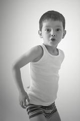 Anspannung (www.fotoARION.ch) Tags: boy bw white black blanco