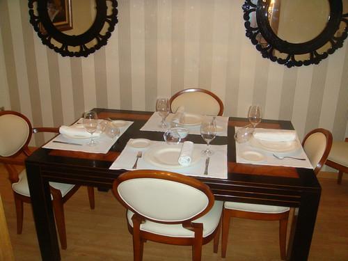 Salón reservado para cuatro personas