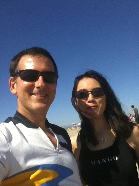 Me and Manako at the shore
