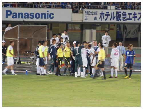 アドリアーノ退場@ガンバ大阪 VS セレッソ大阪