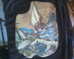 πυρογραφια εξωφυλο (AEGEOTISSA) Tags: wood art τέχνη pyrography areli ζωγραφική πυρογραφια