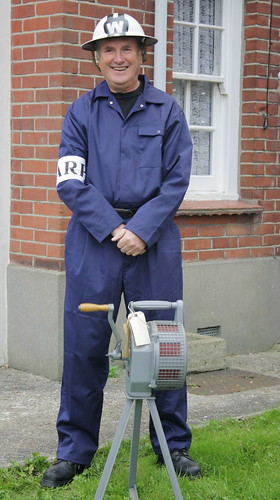 Air Raid Warden With Siren