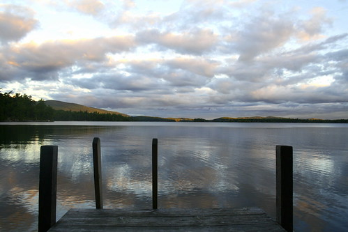 squam lake from the dock at Wayonda