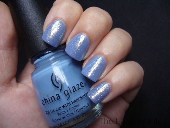 U.M.A. United Makeup Artists Arctic Blue layered over China Glaze Secret Peri-Wink-Le